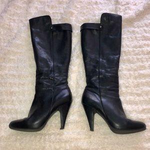 ALDO leather hidden platform heeled knee high boot